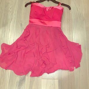BCBGeneration strapless sweetheart ruffle dress